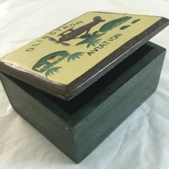 VTG Aviation Bi-Plane Theme Wooden Box